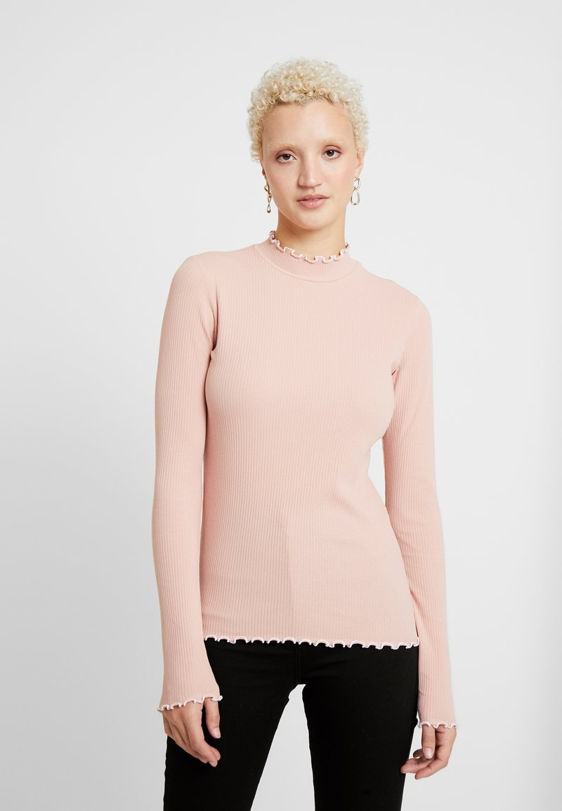PIECES Tall - PCARDENA - T-shirt à manches longues - misty rose/white scallop