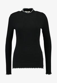 PIECES Tall - PCARDENA - Camiseta de manga larga - black/white scallop - 4