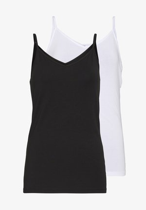 PCSIRENE SINGLET 2PACK NOOS TALL  - Top - black/white