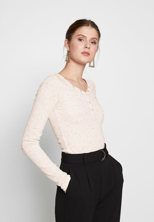 PCNOLO LS HENLEY TOP TALL KAC - Long sleeved top - cloud dancer