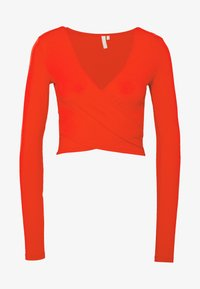 PIECES Tall - PCJIANNA CROPPED - Longsleeve - high risk red - 4