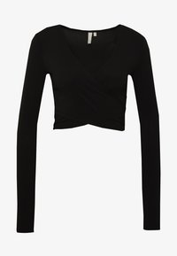 PIECES Tall - PCJIANNA CROPPED - Long sleeved top - black - 4