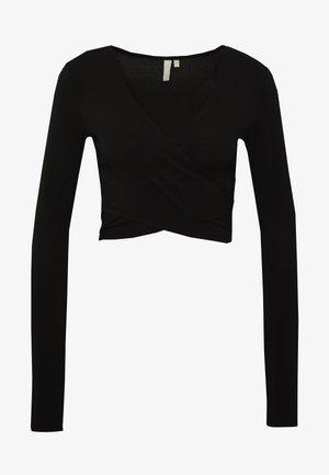 PCJIANNA CROPPED - Camiseta de manga larga - black