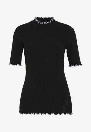 PCARDENA - Camiseta estampada - black/white