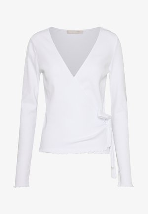 PCNADI WRAP - Long sleeved top - bright white