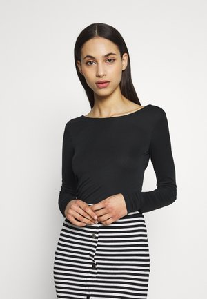 PCNUKITA OPEN BACK TOP TALL  - Top s dlouhým rukávem - black