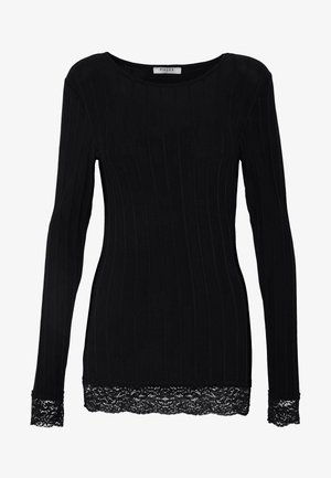PCNYNNE TOP IF TALL - Long sleeved top - black