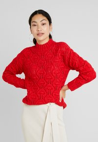 PIECES Tall - PCJIMMA HIGH NECK - Maglione - racing red - 0
