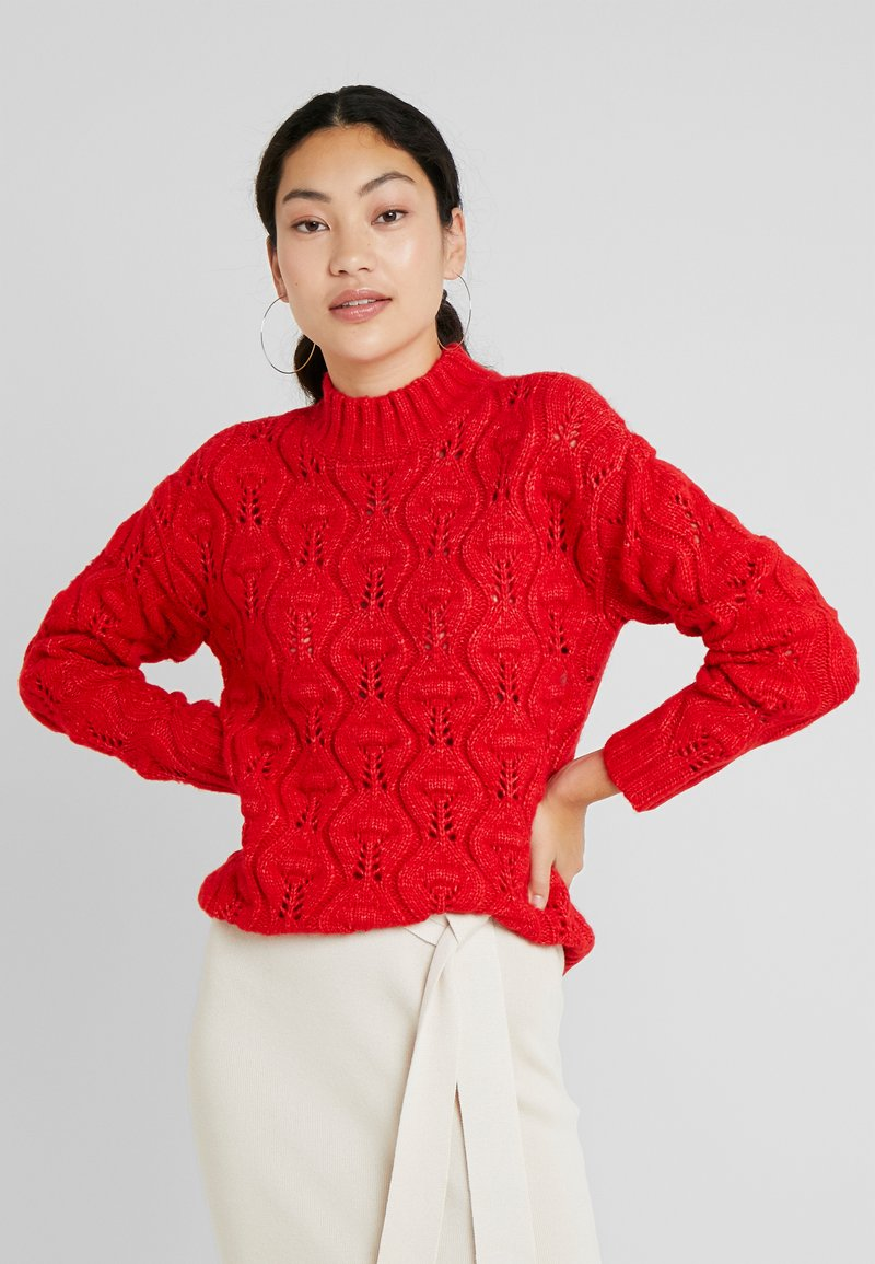 PIECES Tall - PCJIMMA HIGH NECK - Pullover - racing red