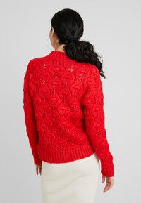 PIECES Tall - PCJIMMA HIGH NECK - Maglione - racing red - 2