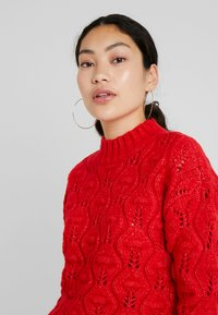 PIECES Tall - PCJIMMA HIGH NECK - Maglione - racing red - 3