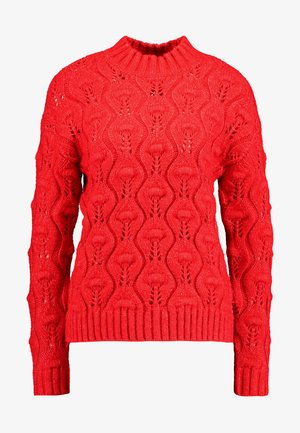 PCJIMMA HIGH NECK - Jumper - racing red