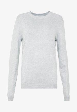 PCESERA - Strikkegenser - light grey melange