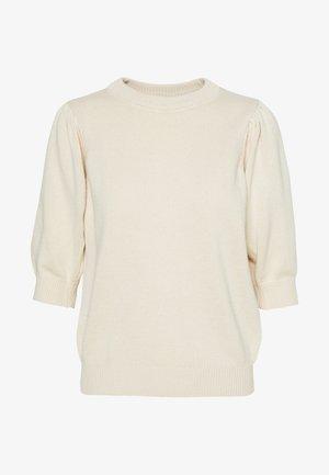 PCMASCHA O NECK TALL - Strikkegenser - whitecap gray