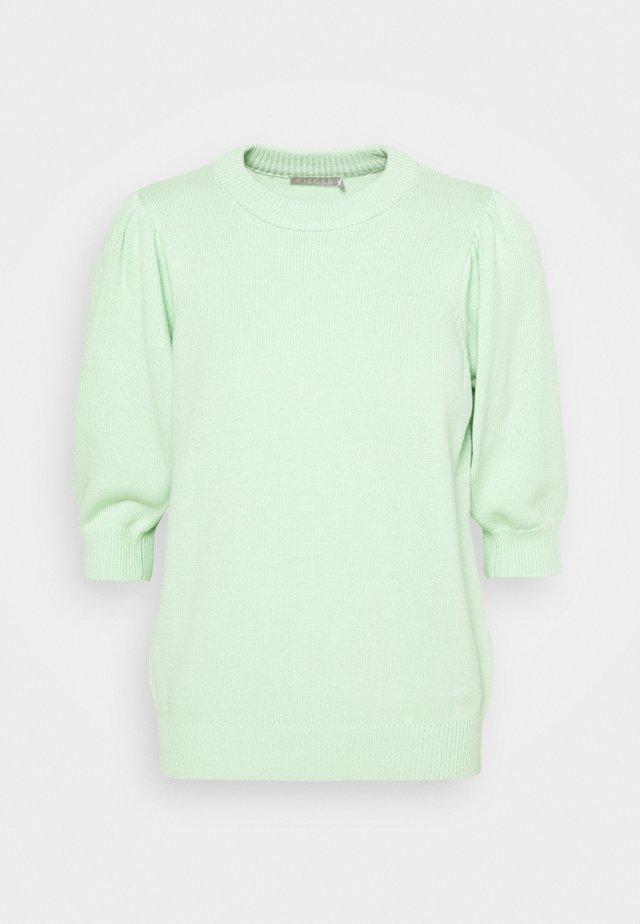 PCMASCHA O NECK TALL - Strikpullover /Striktrøjer - pastel green