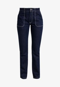 PIECES Tall - PCAURINA - Straight leg jeans - dark blue denim - 4