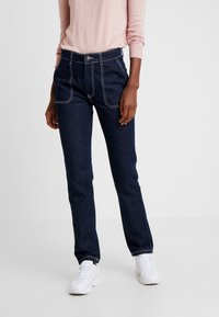 PIECES Tall - PCAURINA - Straight leg jeans - dark blue denim - 0