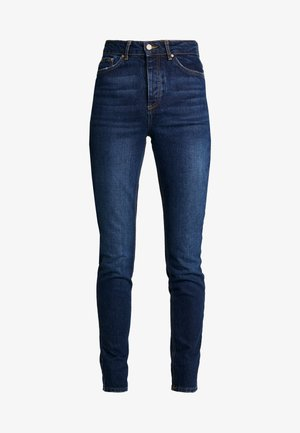 PCCARA - Jeansy Slim Fit - dark blue denim