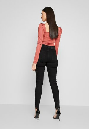 PCKAMELIA  ANKLE  - Jeans Skinny Fit - black denim