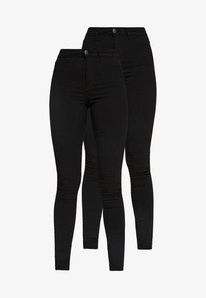 PCHIGHSKIN WEAR JEGGINGS 2 PACK - Jeans Skinny - black
