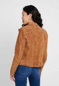 PIECES Tall - PCSUS JACKET - Leather jacket - toasted coconut - 2