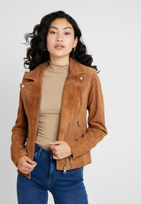 PIECES Tall - PCSUS JACKET - Leather jacket - toasted coconut - 0