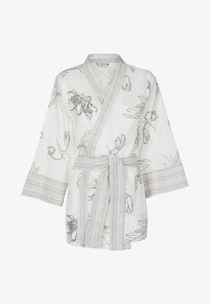 LOUNGE KIMONO - Summer jacket - white