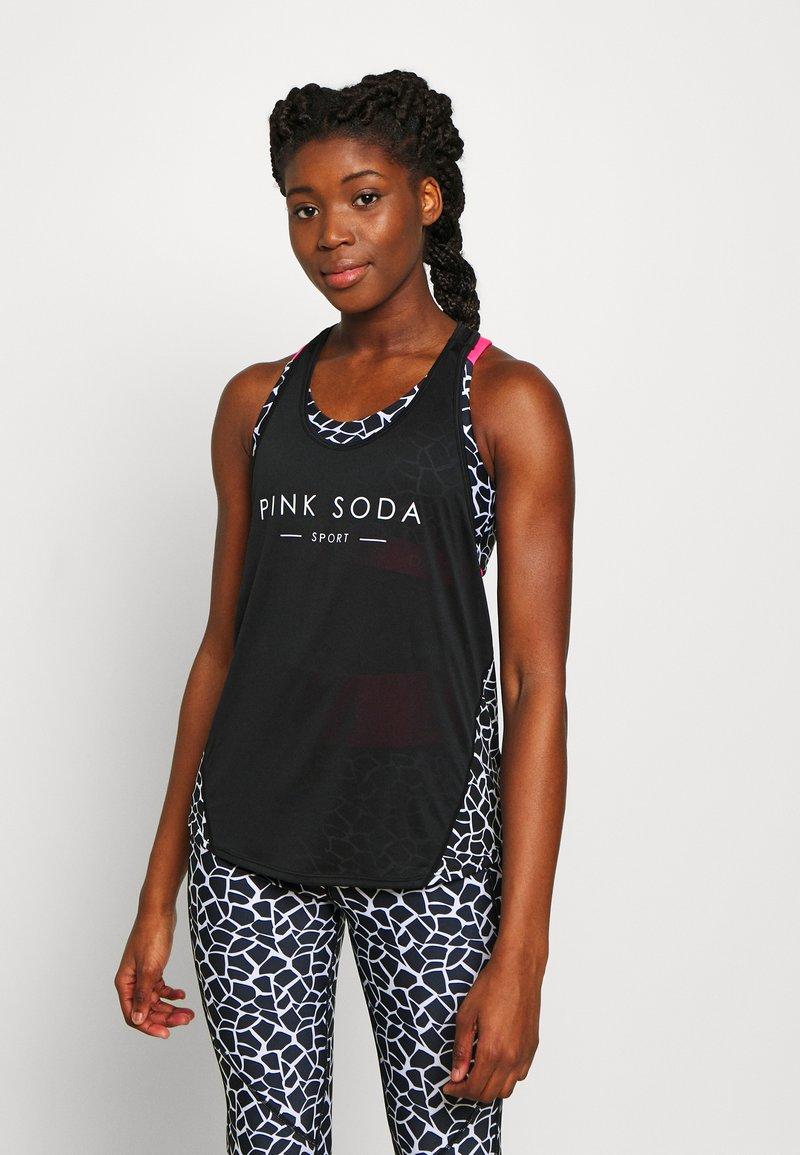 Pink Soda - DECO TANK - Treningsskjorter - black/white