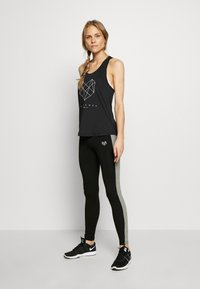 Pink Soda - BISCAY PANEL LEGGING - Tights - black/mid grey grindle - 1