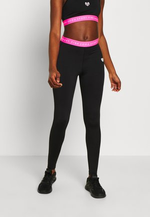 KNOCKOUT TIGHT - Tights - black/pink