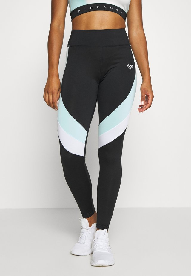 LAGOON PANEL TIGHT - Punčochy - mint/white/black
