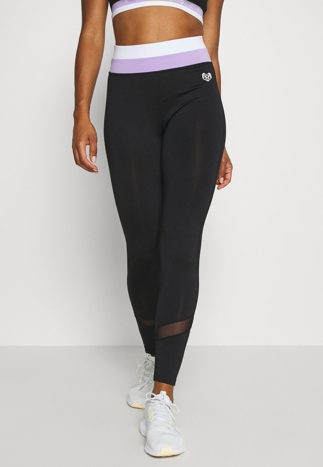 KOI TIGHT - Punčochy - black/lilac/white