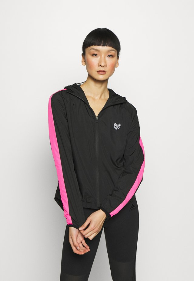 TOPAZ WINDCHEATER - Trainingsjacke - black/pink