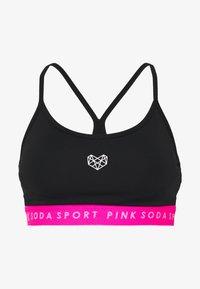 Pink Soda - KNOCKOUT BRA - Sports-BH - black/pink - 3