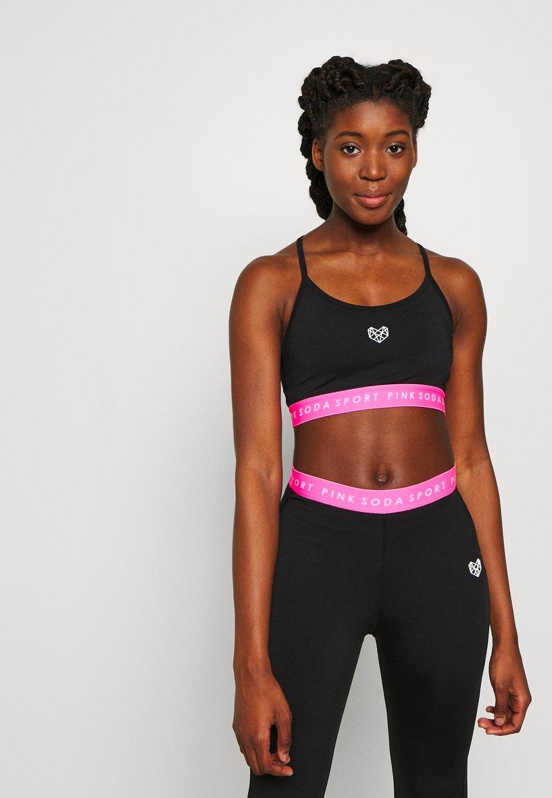 Pink Soda - KNOCKOUT BRA - Sports-BH - black/pink