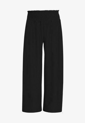 PCCURLI CROPPED PANTS PETITE - Bukse - black