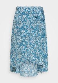 Pieces Petite - PCMAEVE WRAP MIDI SKIRT - A-line skirt - lichen blue - 0