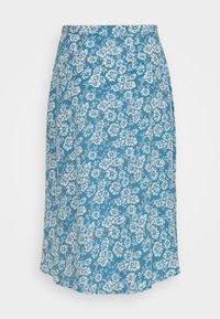 Pieces Petite - PCMAEVE WRAP MIDI SKIRT - A-line skirt - lichen blue - 1