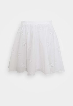 PCALAYA SKATER SKIRT - Minifalda - cloud dancer