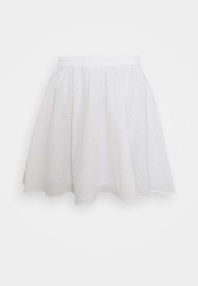 PCALAYA SKATER SKIRT - Mini skirt - cloud dancer