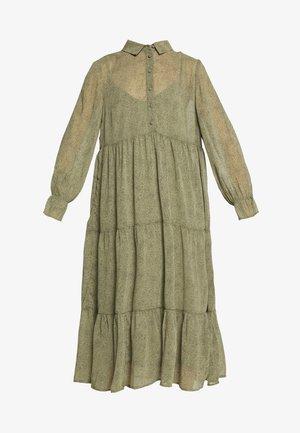 PCRYA MIDI DRESS - Robe chemise - deep lichen green