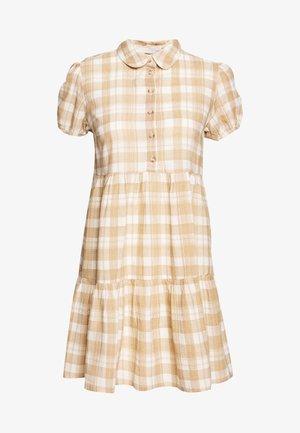 PCADELPHA DRESS - Skjortekjole - whitecap gray/tannin