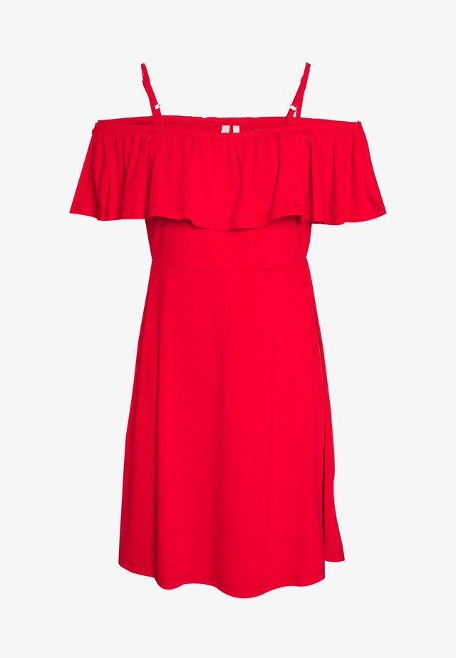 PCARIZONA OFF SHOULDER DRESS - Jerseyjurk - goji berry