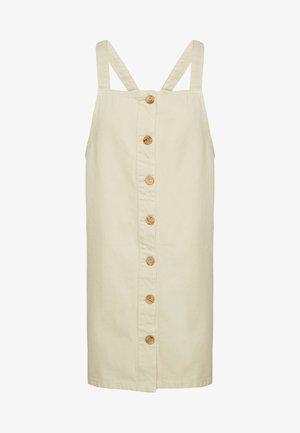 PCASLI COLORED PINAFORE DRESS - Vestito di jeans - almond milk