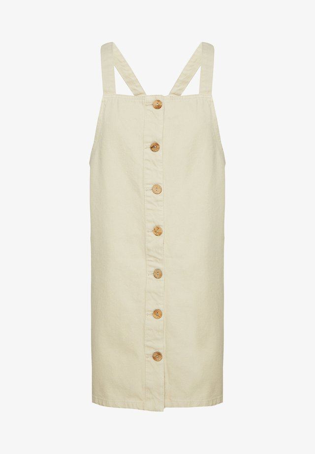 PCASLI COLORED PINAFORE DRESS - Denimové šaty - almond milk