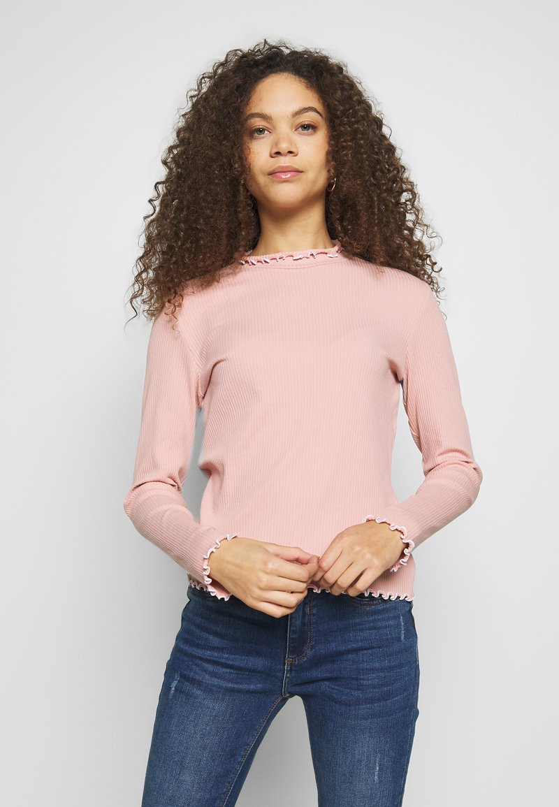 Pieces Petite - PCARDENA - Longsleeve - misty rose/white