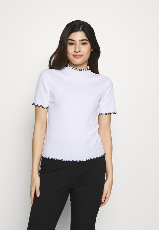 PCARDENA - Print T-shirt - white/black scallop
