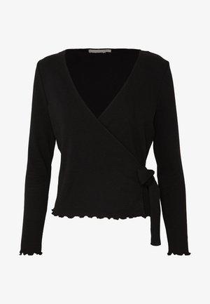 PCNADI WRAP TOP PETITE - Long sleeved top - black