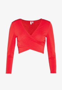 Pieces Petite - PCJIANNA CROPPED - Topper langermet - high risk red - 3