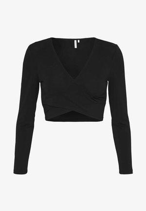 PCJIANNA CROPPED - T-shirt à manches longues - black